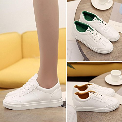 Shoes Casual by White Spring TOPUNDER Flat Women's White Shoes Leisure Travel X6Yzvxvn