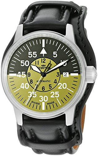 Cockpit Automatic Watch (Fortis Men's 595.11.16 L.01 Flieger Cockpit Olive Self-Wind Black Stainless Steel Watch)