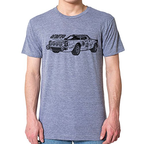 GarageProject101 Lancia Stratos Rally Racing T-Shirt M Athletic Gray