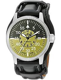 Fortis Men's 595.11.16 L.01 Flieger Cockpit Olive Self-Wind Black Stainless Steel Watch