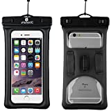 uFashion3C [Float] Waterproof Cell Phone Case Dry Bag Pouch [With Headphone Jack,Armband,Lanyard] for iPhone 6,6S...