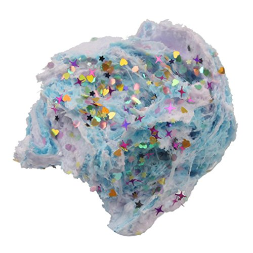 Wenjuan Amazing Snowflake Mud Colorful Mixing Cloud Cotton Candy Slime Squishy Scented Stress Kids Clay Toy ()