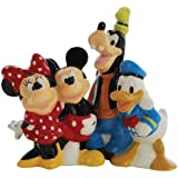 Westland Giftware Magnetic Ceramic Salt and Pepper Shaker Set, Disney Mickey and Friends, 4.25-Inch, Set of 2