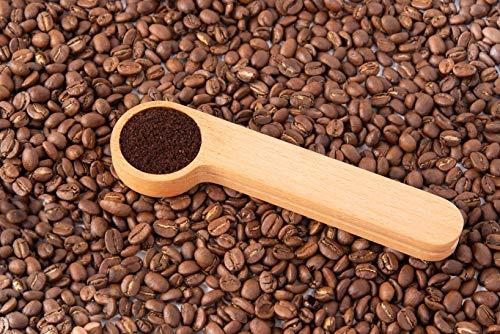 Cuchara medidora para café con clip de cierre | Letras y Latte - Libros en español y café