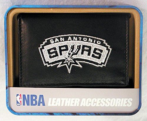 NBA San Antonio Spurs Embroidered Leather Trifold Wallet ()