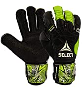 SELECT 33 Protec V20 Goalkeeper Glove With Finger Protection(Hard Ground and Soft Ground/Grass Palm)