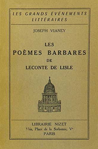 Poemes Barbares [Pdf/ePub] eBook