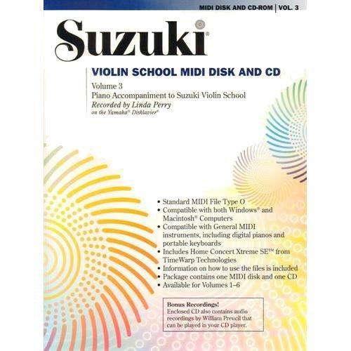 School Midi Disk (Suzuki Violin School: MIDI Disk Acc./CD-ROM, Vol. 3)