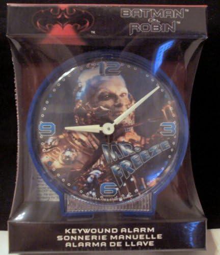 Batman and Robin Mr. Freeze Keywound Alarm Clock