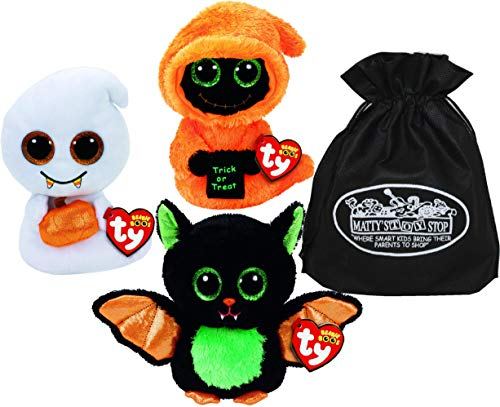 Ty Beanie Boos Halloween Beastie, Seeker & Scream Gift Set Bundle with Bonus Matty's Toy Stop Storage Bag - 3 -