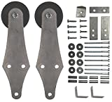Sliding Barn Door Hanger Kit Hinge Style with Hardware - 2 pcs. (No Track)