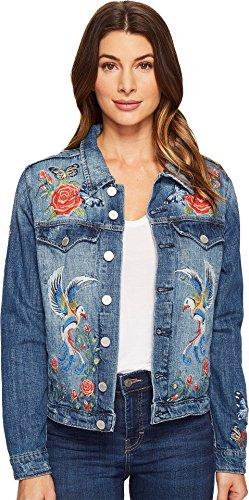 Blank NYC Women's Denim Embroidered Jacket in Wild Child Wild Child Outerwear (Embroidered Cotton Jacket)