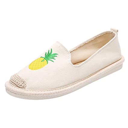 19eb172590d6f Amazon.com: Goddessvan Women's Casual Canvas Pineapple Print Slip On ...