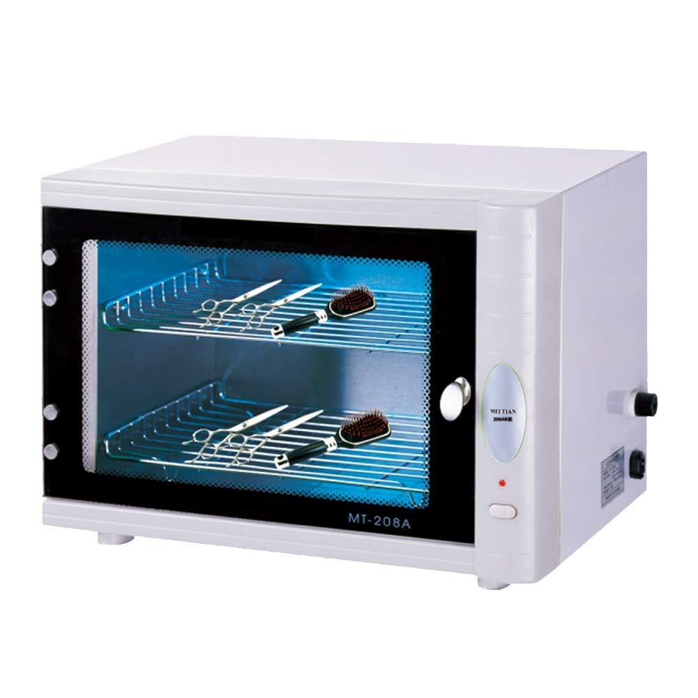 Nail Sterilizer UV 13L Disinfection Cabinet Manicure Disinfector For Salon Nail Art Equipment, White Ciaer