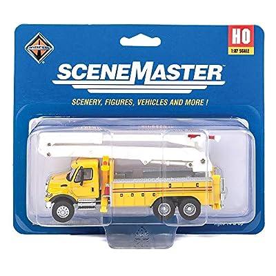 Walthers SceneMaster International, Yellow 7600 Utility Truck w/Bucket Lift: Toys & Games