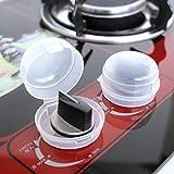 Iusun 2Pcs Gas Oven Stove Knob Cover Guard Shield Child Safegaurd Lock Kitchen Cooker (White,2Pcs)