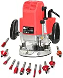 Digital Craft MATRIX RR12 POWERFUL Wood working router machine combo 12mm with bits 12 PCS MULTI SHAPES ROUTER/TRIMMER BIT SET COMBO Rotary Tool (12 mm) 11500-23000 rpm Power Input : 1850 W Rotary Tool (12 mm)