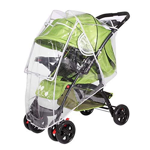 SONARIN Protector de lluvia Universal para Silla de paseo,buena circulacion del aire,Burbuja de Lluvia Protector,facil montaje, sin PVC