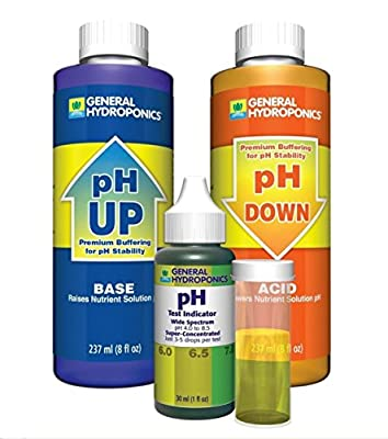 1-Set Superlative Popular GH pH Control Accurate General Hydroponics Tool Adjustment Combo Up and Down Volume 8 oz with 1 oz Indicator