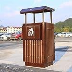 AKONTR-Basura-y-Reciclaje-Papeleras-Bote-de-Basura-con-Barril-Interior-y-cenicero-la-Capacidad-de-Basura-Desmontable-de-Madera-para-Uso-en-Interiores-Exteriores-o-comerciales-Cubos-de-Basura