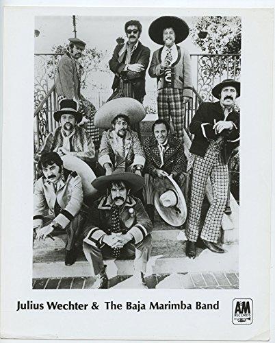 (Julius Wechter & the Baja Marimba Band Photo BW 8 x 10 Promo Original Vintage A&M Records)