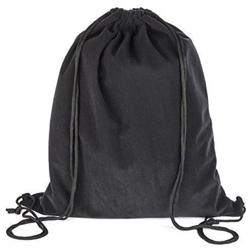 """Pardao Velvet Luxury Gift Bag - 17 x 20"""" - Large Black Draws"""