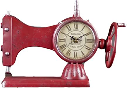YAzNdom Reloj De Escritorio Máquina De Coser De Moda Antigua Reloj ...