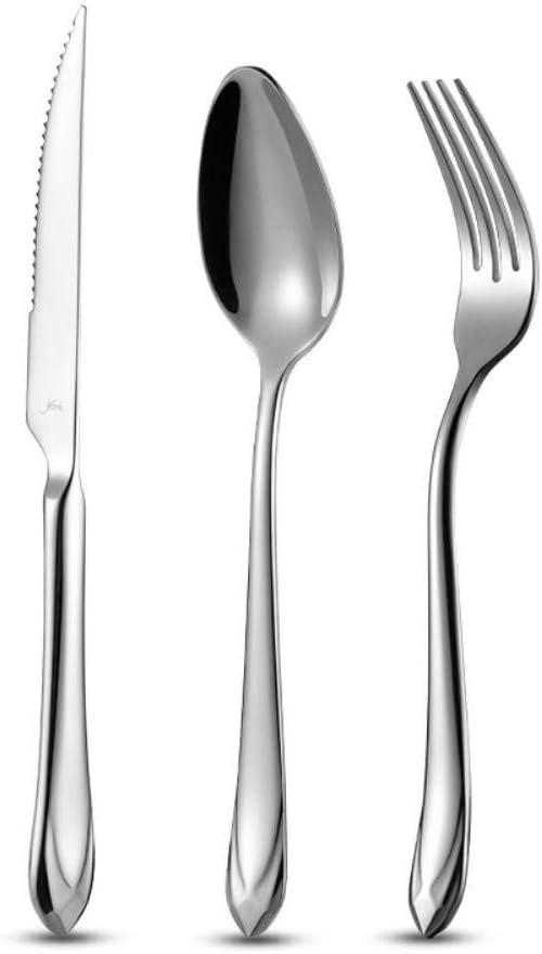 OOPP Mesa de la Cocina y el Mango del Cuchillo de Acero Inoxidable Cuchillo de Mesa de Resistencia Carne Thincked a Altas temperaturas Accesorios de Cocina
