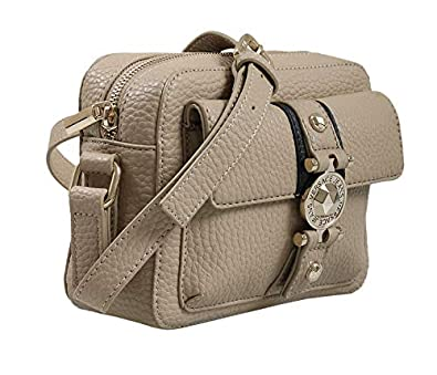 554ce86e60 Amazon.com: Versace EE1VSBBF1 EMDU 723+899 Taupe/Black Shoulder Bag ...