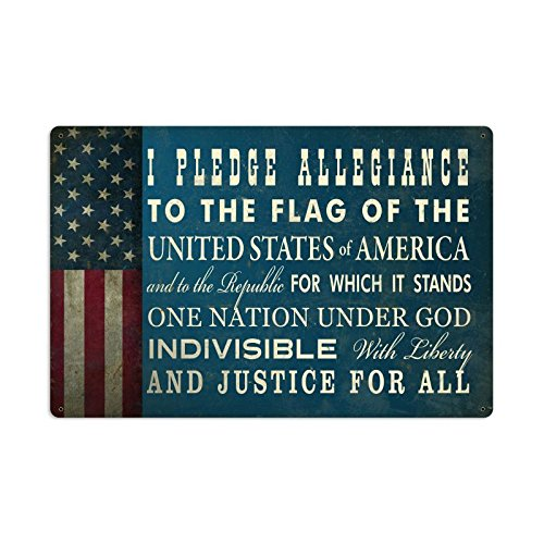 Past Time Signs PTS488 The Pledge Of Allegiance Metal Sign from Past Time Signs