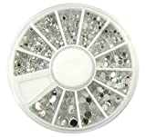 2 Trays Printer - 1 Sets Beautiful Popular 3D Acrylic Nail Art Wheel Colorful Decor Tools Kit Cellphone Color Style Clear Rhinestones