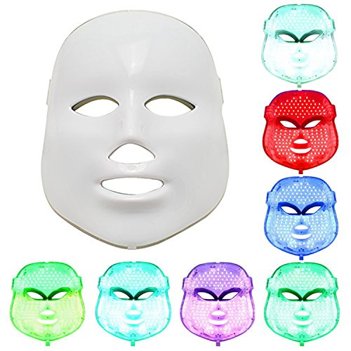NEWEST LED Photon Therapy 7 Colors ( Red Blue Green )Light Treatment Facial Beauty Skin Care Rejuvenation Pototherapy Mask PDT Beauty Face Care for - And G Red D