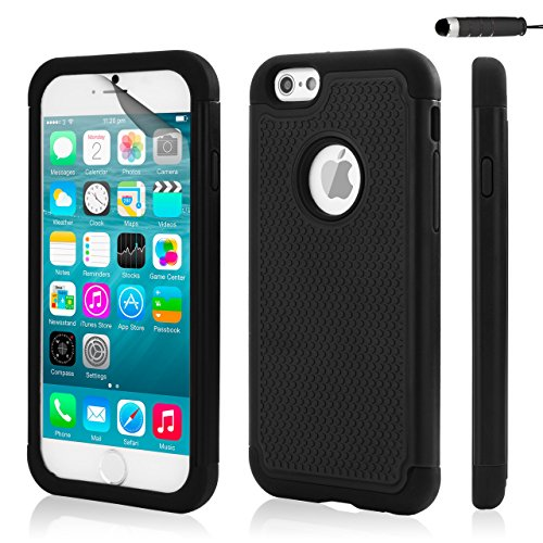 32nd Custodia Protettiva ibrida copertura anti-urti case cover per Apple iPhone 6 6S - Nero