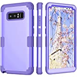 Samsung Galaxy Note 8 Case, Mupoo Three Layer Heavy Duty Shockproof Drop Protection Hybrid Hard PC Case Soft Silicone Impact Defender Full-Body Protective Cover for Samsung Galaxy Note 8 Light Purple