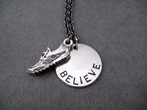 Amazon.com: BELIEVE IN YOUR RUN Running Shoe Necklace