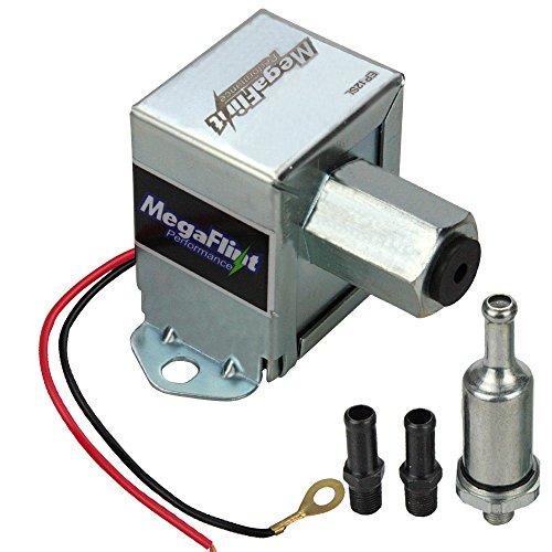 MegaFlint 12V Universal Electric Fuel Pump Metal Solid Petrol & Diesel (4-7 PSI)