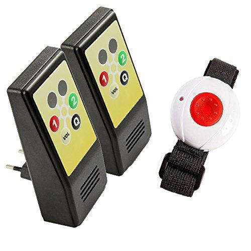 Pflegeruf-Set HelpLine Sicherheitspaket 5 (mit zwei Steckdosenempfängern und Armband-/Halsbandsender)
