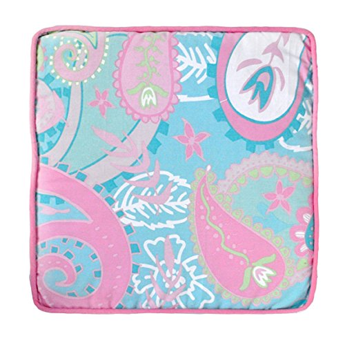 My Baby Sam Pixie Baby Throw Pillow, Aqua and Pink (Crib Bedding Pink And Aqua)