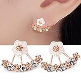Happystore Jewelry Women Flower Fashion Earring Jackets Three Colors