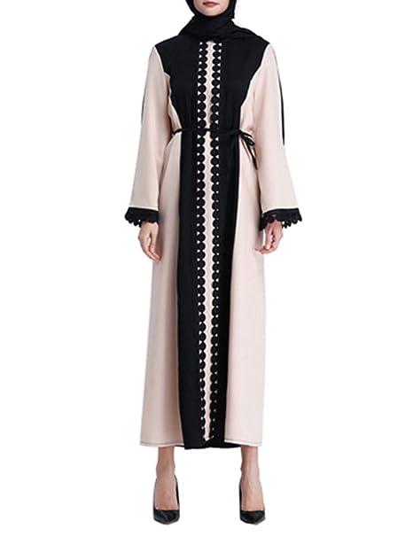 zhruiqun Mujer Túnica Larga Vestidos Musulmanes - Islámico Medio Este Maxi Casual Elegante Ropa Dama Oración Ramadan Disfraz XXL: Amazon.es: Ropa y ...