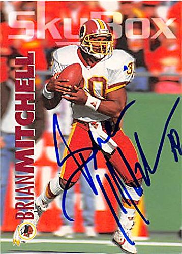 Autograph 124804 Washington Redskins 1993 Skybox No. 338 Brian Mitchell Autographed Football Card