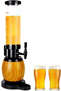 JIAWANSHUN 100 oz Beer Tower Dispenser Beverage Dispenser with Ice Tube&LED Lights for Bar Home Parties Buffet Restaurant
