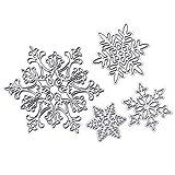 Indexu Charming Handmade DIY Craft Carbon Steel Cutting Dies Stencils 4pcs Snowflake