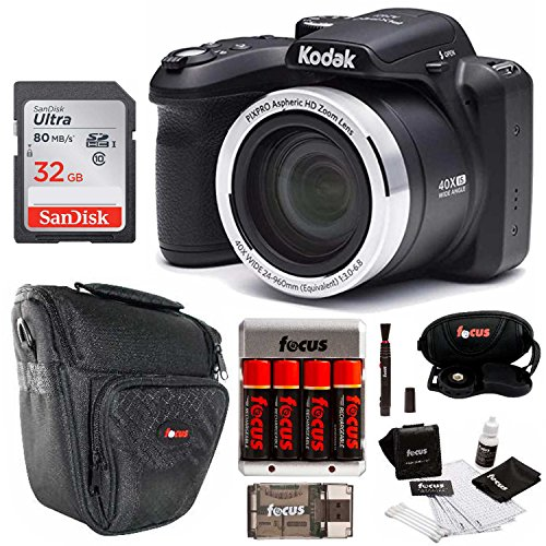 Kodak AZ401BK Point and Shoot Digital Camera with 40X Zoom, Optical Image Stabilization, Flash, 3