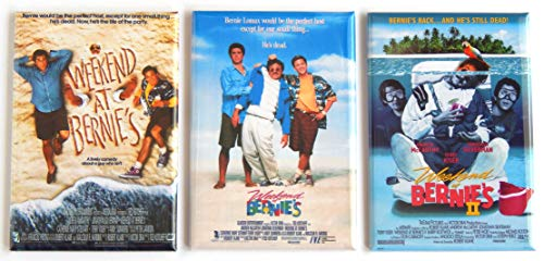 Weekend at Bernie's Movie Poster Fridge Magnet Set (2.5 x 3.5 inches each)