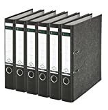 Leitz 2-Ring 2-Inch Premium A4 Sized European Binders 6-Pack, Black (R50PACK)