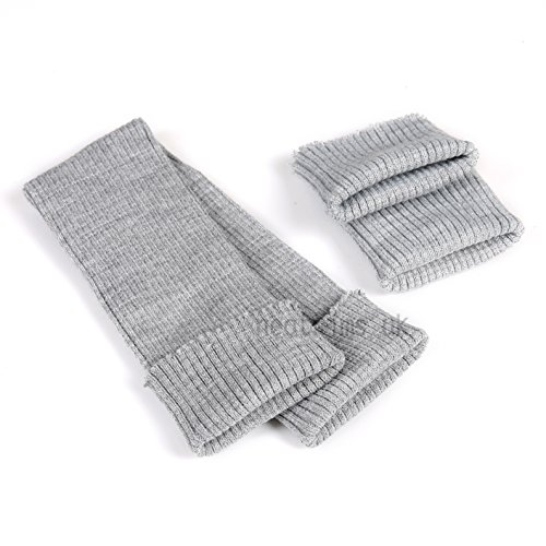 Knit Material Rib (Tubular Rib Cuffing, 2x2 Rib Knit seamless cuff & Fabric by the meter. Great trim as cuff for sleeve bombers and jackets. Available in 14 colours. Sold By The Meter. Silver Grey)
