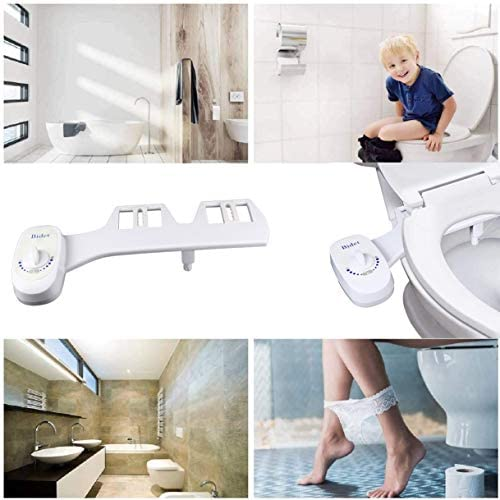 JAKAGO Non-Electric Bidet Self Cleaning Nozzle Toilet Seat Attachment Sprayer Home Bidet Toilet Seat Attachment for Personal Hygiene