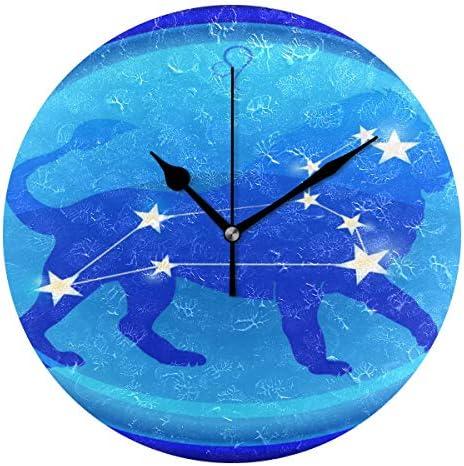 UKIO 掛け時計 置き時計 壁掛け時計 星座 しし座 ブルー 部屋装飾 壁時計 インテリア おしゃれ かわいい アート 部屋 ウォールクロック 円型