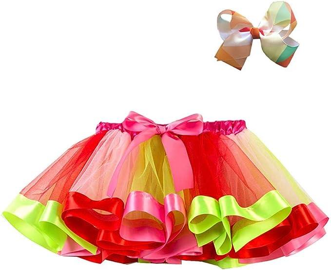 CyFe - Falda de Ballet de tutú para niñas de 3 a 10 años: Amazon ...
